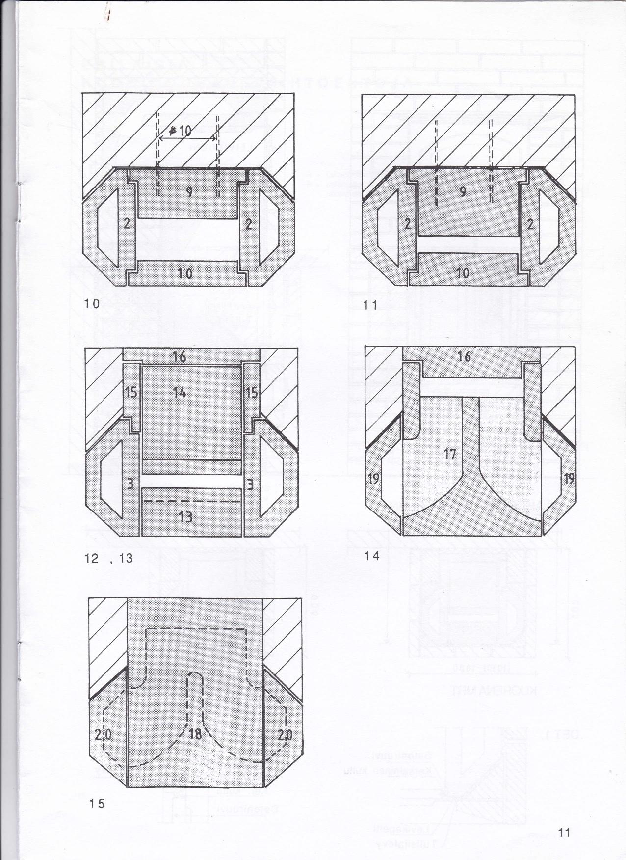 Opbygning, trin 10 - 18