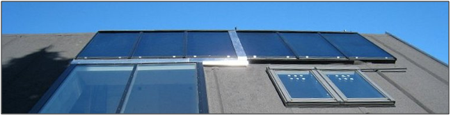Af solfanganlæg anvendes nyeste typer med høj virkningsgrad og lang levetid